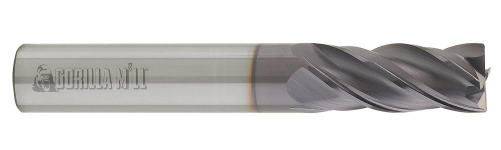 CGC Tools GM14FL4 Gorilla High Performance Carbide End Mill, GMX-35 Coating, Flat, 4 Flute, 1/4'' Diameter, 1-1/4'' LOC, 3'' OAL