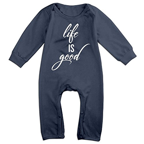[NiuNiu Stay Positive Life Good Toddler Infant Baby Long Sleeve Bodysuit Baby OnesieRomper For 0-24 Months Navy 12 Months] (Like A Boss Fish Costume)