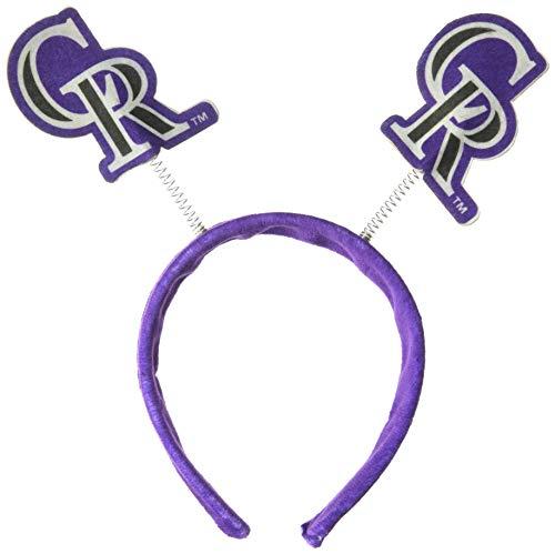 - FOCO MLB Colorado Rockies Mens Springy Ears HeadbandSpringy Ears Headband, Team Color, One Size