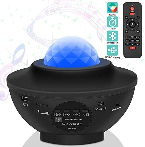 LED Sternenhimmel Projektor,Ozeanwellen Projektionslampe LED Starry Bluetooth DE