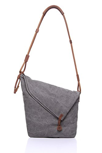 Men's Canvas Unisex Crazy Mochila Horseskin Retro Messenger Totes Jiurui Gray Trend Y Bag Art Shoulder xqwBAOfRH
