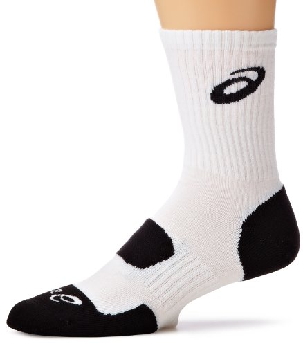 - ASICS Team Performance Crew Sock, White, Medium