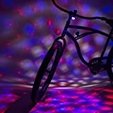Activ Life Disco Party Bike Lights (Red, White & Blue) Fun Bicycle Accessory for Best Night Ride Safety & Style for Boys Girls Teens Birthday Presents & Christmas Ideas