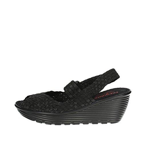 Pregunta Bertha PR1 Sandale Noir Femme YfY7r