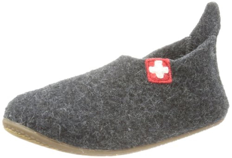 Living Kitzbühel  Slipper Schweizer Kreuz Slippers Unisex-Child  Gray Grau (anthra 600) Size: 25
