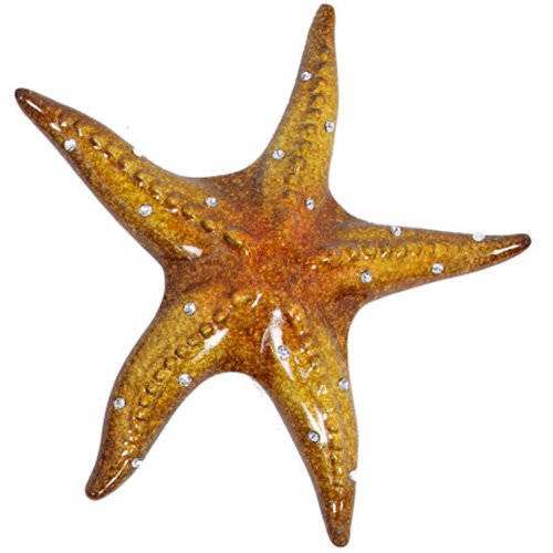 1pce 25cm Resin Starfish Marble Effect with Beautiful Gloss Finish - Top Right - Yellow (Finish Marble Resin)