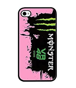 Play89Only - Valentino Rossi,46 Iphone 4s Cell Phone Funda Case, Brand Logo Hard Funda Case Ultra Thin Scratch-Proof Back Film Protector Skin For Iphone 4 / 4s