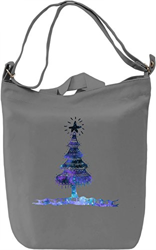 Christmas Tree Borsa Giornaliera Canvas Canvas Day Bag| 100% Premium Cotton Canvas| DTG Printing|