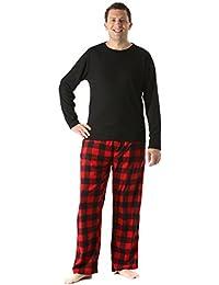 Polar Fleece Pajama Pants Set for Men/Sleepwear/PJs