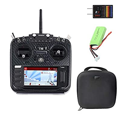 Jumper-XYZ T16 Pro V2 New Hall Gimbal Open Source Multi-Protocol Radio Transmitter JumperTX 2.4G 16CH 4.3 inch LCD for FPV Drone (Mode2 Full Set): Toys & Games
