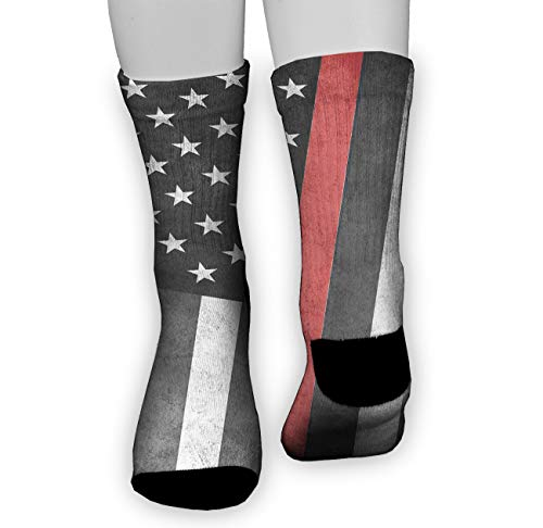 Jinkela Women's Crazy Funny Crew Socks,Novelty Firefighters Flag Stockings]()