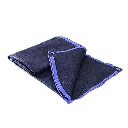 LIANGJUN Shading Net Sunblock Weave Buttonhole Wrap Edge Outdoor Balcony Window - Black (Color : A, Size : 4x6m)