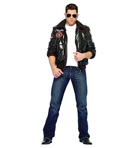 Top Gun Men's Bomber Jacket Set Adult Costume - - Gun Top Costume Womens Jacket