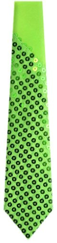 Lime Sequence Necktie