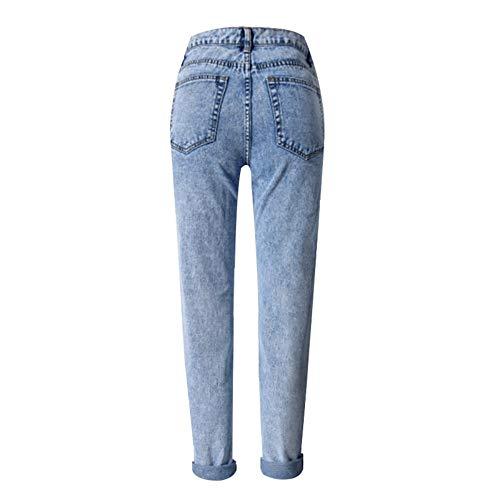 Vita Larghi Fiocco Leggera Mom Di Jeans Donn Bianco Neve 26 Donna Alta Stampa Bottom Rlwfjxh 29 A Gamba Larga Fidanzato IpBqC7w