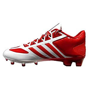 adidas SMU Crazyquick Low NCAA Football Cleat (10.5, Running White/Unired/Unired)