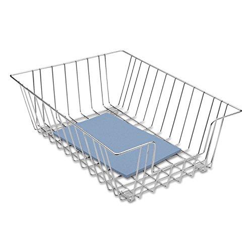 Fellowes 65012 Wire Desk Tray, Legal Size, 12-Inch x16-1/2-Inch x5-Inch, Silver ()