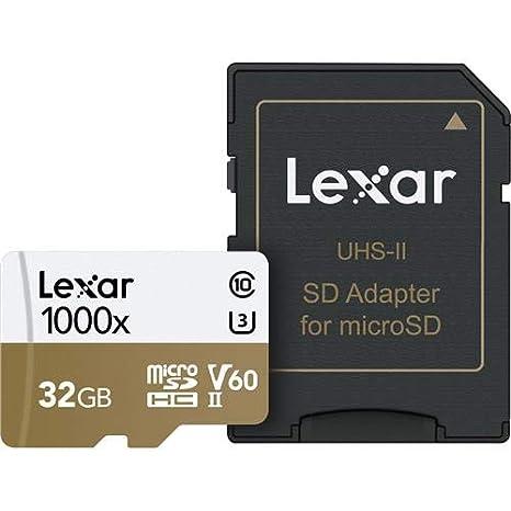 Amazon.com: Lexar - Tarjeta de memoria microSDHC (32 GB ...
