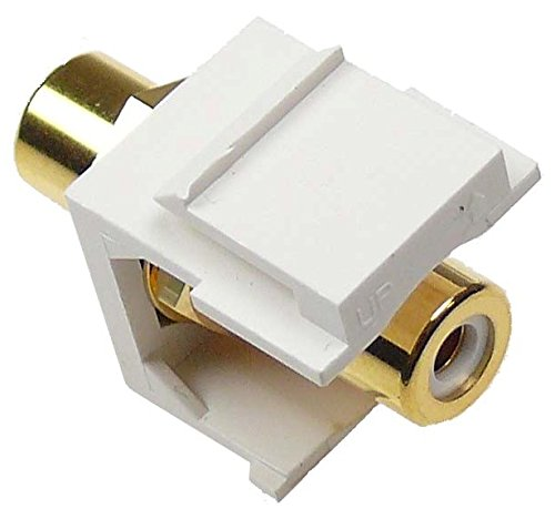 NTW RCA White F/F feed-through Snap-in keystone Jack Insert White NKYN-FF/RCAW-WH
