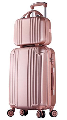 womens abs spinner luggage candy color hardside rolling