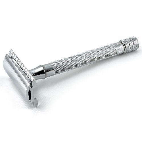 Merkur Futur MK 23C Long-Handled Traditional Double Edge Safety Razor - Excellent Comfort, Control, and Design - 4.2 Inches, Chrome Finish