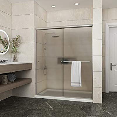 Elegant Shower Semi-Frameless Bypass Sliding Glass Bathtub Doors Shower Screen