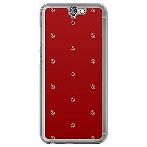Loud Universe HTC One A9 Nautica Nautical 8 Printed Transparent Edge Case - Red