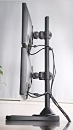 EZM Vertical Dual LCD Monitor Mount Stand Freestanding up to 27\