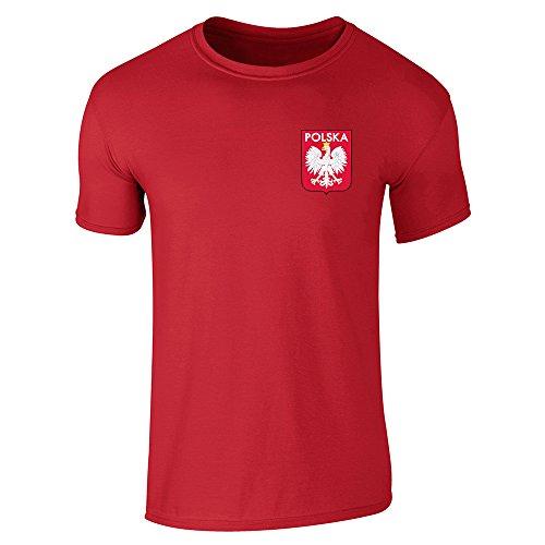 Poland Soccer Retro National Team Red XL Short Sleeve (Poland Soccer T-shirt)