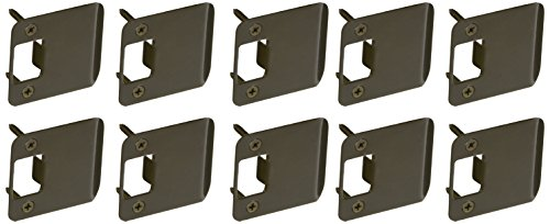 Don-Jo EL 102 RC 18 Gauge Extended Lip Strike with 1/4'' Radius Corner, Dura Coated, 2'' Width x 2-1/4'' Height (Pack of 10) by Don-Jo