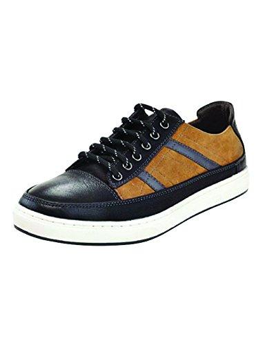 Collezione Marco Vitale, Sneakers Stringate Uomo Bicolore Nero