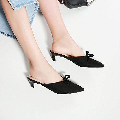 Bien mujer con punta sandalias primavera en de black número el un la y verano con de de encabezado gran wrBwAxqTF