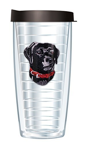 - Black Lab Emblem Super Traveler 22 Oz Tumbler Cup with Black Lid