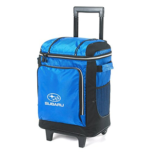 GENUINE SUBARU Subaru Logo Coleman Wheeled Soft Cooler With Hard Liner Blue new 42-CAN Genuine Official by GENUINE SUBARU