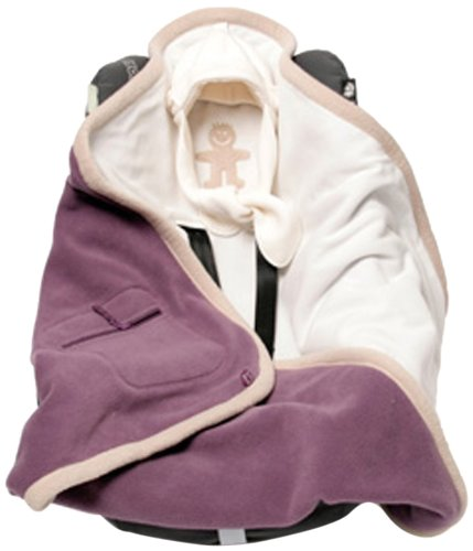 Baby Boum Super Warm Reversible Polar Fleece Polstar Car Seat And Pram Blanket Purple Grape Cream Amazoncouk