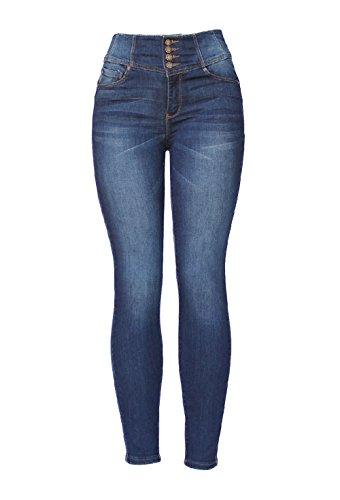 Wax Jeans -Tummy that Im Beautiful- Push up Jeans - High Waist Corset Jeans (9, Dark) by Krystal Jeans