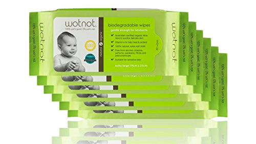 Wotnot Naturals Biodegradable Baby Wipes, 6 pack (480 wipes)