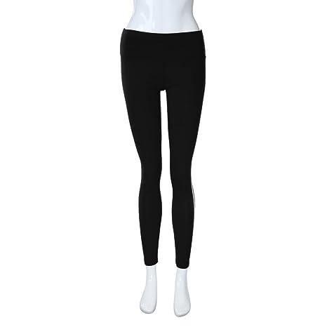 b277ea5b2f09d Ladies' Pants,White Stripe On Side Women's Yoga Workout Leggings Smdoxi  Girl's Pants Runing