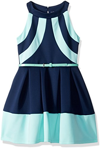 beautees-big-girls-color-block-dress-with-mock-neck-cut-away-exposed-shoulder-mint-12