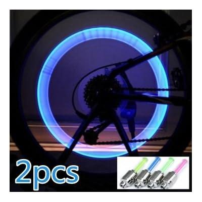 Haute Qualité 2x vélos vélos feux de roue LED Valve Lampe de valve de lumière