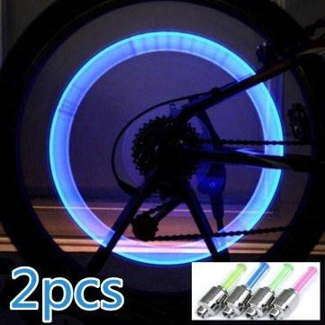 Valve Lampe de vélos roue Pakhuis LED lumière vélos de de feux valve 2x 0xxqPCZ