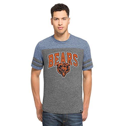 '47 NFL Chicago Bears Men's Neps Football Tee, X-Large, Vintage Grey