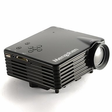 Mengshen® Multi-media Mini 200 Lumens Portable LED Projector support HDMI SD USB RCA VGA Audio Video for Home Cinema family Video Games Children Education Beamer MS-GP7S