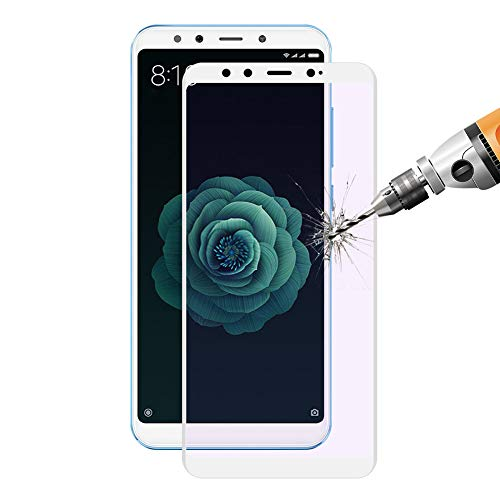 Hat-Prince Xiaomi Screen Protector, 9H 0.2mm Anti Blue-Ray 3D Full Coverage Tempered Glass Film Guard Screen Protector Xiaomi (Xiaomi 6X/A2)
