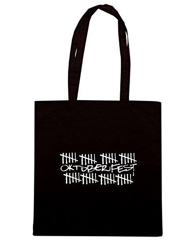 T-Shirtshock - Bolsa para la compra BEER0108 oktoberfest1 Negro
