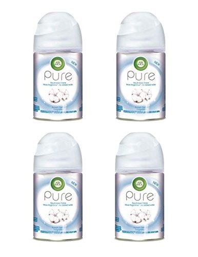 Air Wick Pure Freshmatic 4 Refills Automatic Spray, Sunset Cotton, (4X6.17oz), Air Freshener (Aerosol Dispenser Kit)