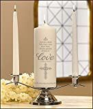 Faith Hope and Love Wedding Unity Candle Set Mark Bowers Applique on Wax x Pack of 2