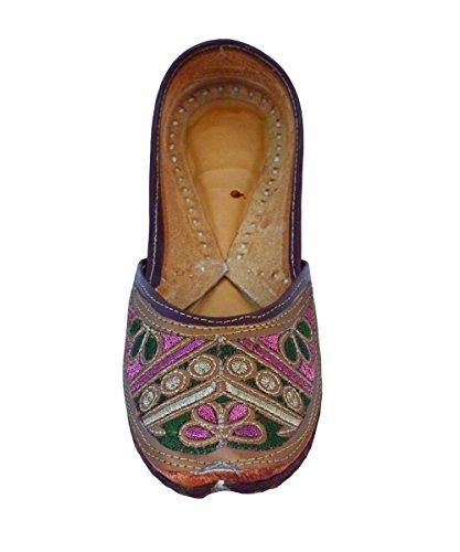 Handgjorda Kvinna Artisan Indiska Tofflor Kvinnor Platta Skor