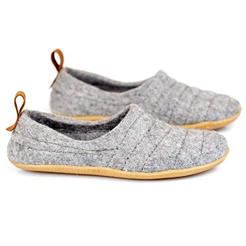 NEW BureBure Natural Wool Men Slippers Cocoon Handmade in Europe