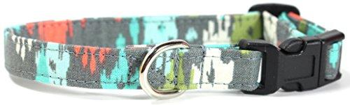 Dream Chaser Designer Cotton Dog Collar, Adjustable Handmade Fabric Collars (XS)